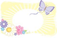 Grafico del fiore e della farfalla Immagine Stock