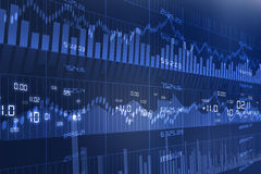 Grafico del mercato azionario Immagine Stock