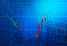Grafico del mercato azionario Fotografia Stock Libera da Diritti