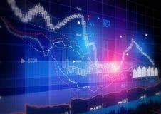Grafico del mercato azionario Fotografie Stock Libere da Diritti