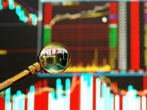 grafico del mercato azionario Immagini Stock