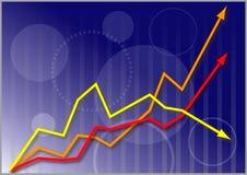 Grafico del mercato azionario di affari Fotografie Stock