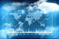 Grafico del mercato azionario Fondo del grafico commerciale Fotografia Stock