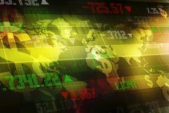 Grafico del mercato azionario Fondo del grafico commerciale Immagini Stock
