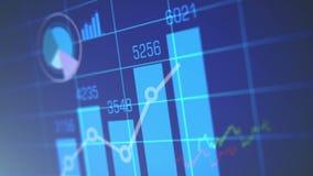 Grafico del mercato azionario sul blu illustrazione di stock