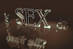 Grafico del sesso Fotografie Stock Libere da Diritti