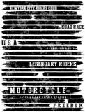 Grafico del T di tipografia di slogan del motociclo royalty illustrazione gratis