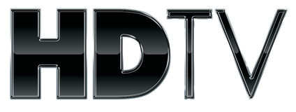 Grafico del testo di HD TV o di HDTV Fotografie Stock Libere da Diritti