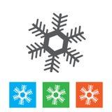 Grafico dell'icona del fiocco di neve Logo del fiocco di neve Illustraton di vettore Immagine Stock Libera da Diritti