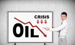 Grafico dell'olio di crisi Fotografia Stock