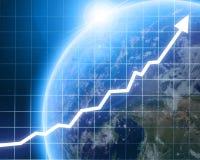Grafico della freccia che va su Immagini Stock