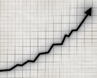 Grafico della freccia che va su Fotografia Stock Libera da Diritti