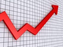 Grafico della freccia che va verso l'alto Immagine Stock Libera da Diritti