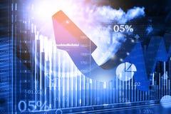 grafico della freccia di affari 3d Immagini Stock Libere da Diritti