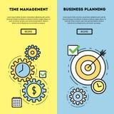 Grafico della gestione e di pianificazione aziendale di tempo Fotografia Stock Libera da Diritti