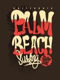 Grafico della maglietta del Palm Beach Fotografie Stock
