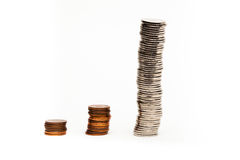 Grafico della moneta - immagine di riserva Fotografia Stock