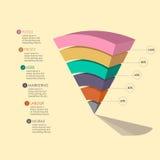 Grafico della piramide Fotografia Stock