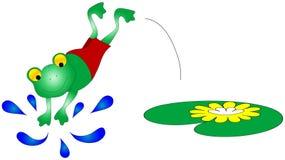 Grafico della rana di nuoto Fotografia Stock