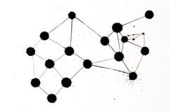 Grafico della rete del punto dell'inchiostro Fotografia Stock