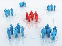Grafico della rete di affari illustrazione vettoriale