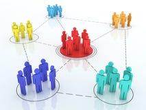 Grafico della rete di affari illustrazione di stock