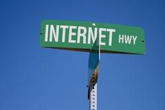 Grafico della strada principale del Internet Fotografia Stock Libera da Diritti