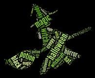 Grafico della strega di volo Fotografie Stock