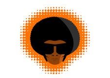 Grafico della testa dell'uomo della discoteca di Afro Immagine Stock Libera da Diritti