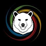 Grafico della testa di Big Bear Fotografie Stock