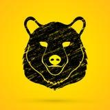 Grafico della testa di Big Bear Fotografia Stock
