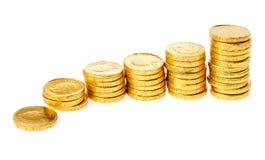 Grafico delle monete Fotografia Stock