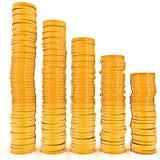 Grafico delle monete di oro illustrazione vettoriale