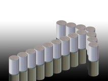 Grafico delle monete e della freccia Immagini Stock