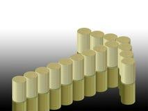 Grafico delle monete e della freccia Immagini Stock Libere da Diritti