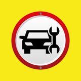Grafico dello strumento di supporto dell'automobile di assicurazione Fotografie Stock Libere da Diritti