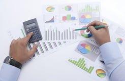 Grafico di affari Fotografia Stock