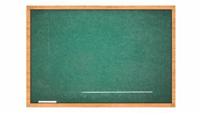 Grafico di affari che cresce o che aumenta sulla lavagna verde. video d archivio