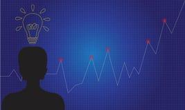 Grafico di affari di concetto di idea di crescita Fotografie Stock