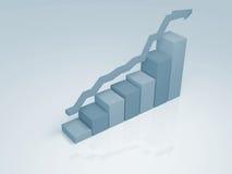 Grafico di affari (esperto in informatica lunedì) Fotografia Stock