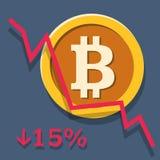 Grafico di ammortamento di Bitcoin Fotografia Stock