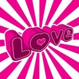 Grafico di amore Immagini Stock Libere da Diritti