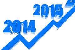 Grafico di anno Immagini Stock