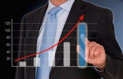 Grafico di assorbimento di prestazione di vendite e di affari fotografia stock libera da diritti