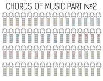 Grafico di base classico delle corde della chitarra dell'insieme di musica royalty illustrazione gratis