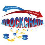 Grafico di Blockchain Immagine Stock Libera da Diritti
