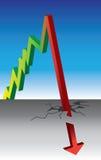 Grafico di caduta e di aumento Fotografia Stock Libera da Diritti