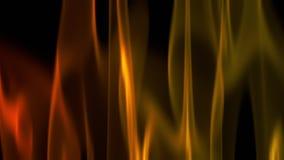 Grafico di computer astratto di effetto della fiamma reso su fondo nero illustrazione vettoriale