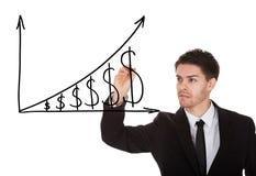 Grafico di crescita del dollaro Immagine Stock