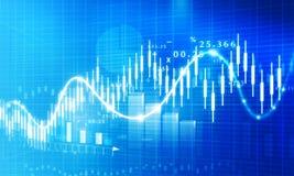 Grafico di crescita del mercato azionario Immagini Stock